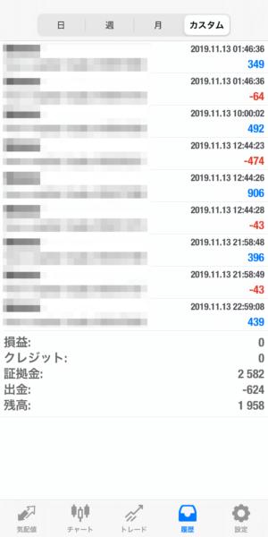 2019.11.13-Ideal自動売買運用履歴