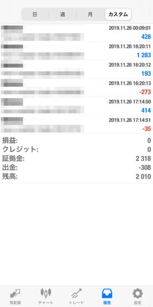 2019.11.26-Ideal自動売買運用履歴